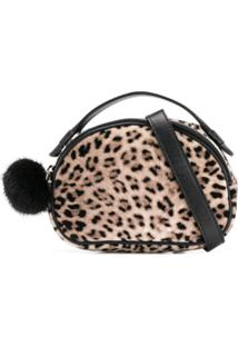 Monnalisa Leopard Print Clutch Bag - Marrom
