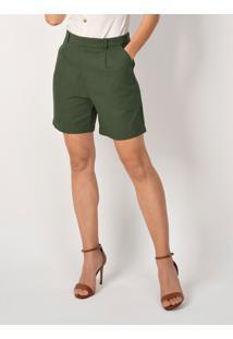 Bermuda Feminina Verde Musgo