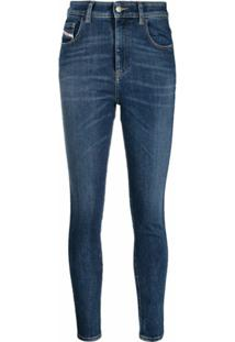 Diesel Calça Jeans Skinny Slandy Cintura Alta - Azul