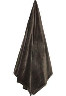Cobertor Velour De Solteiro- Marrom- 150X200Cm- Camesa
