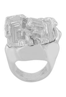 Coup De Coeur Anel 'Vortex Stone' - Metálico