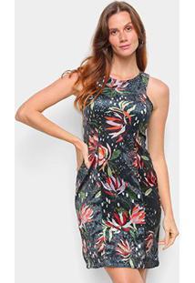 Vestido Cantão Curto Veludo Coachella Carolina Rec - Feminino-Colorido