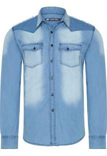 Camisa Masculina Eddie - Azul
