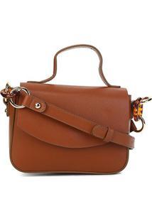 Bolsa Loucos & Santos Mini Bag Elos Tartaruga Feminina - Feminino-Caramelo