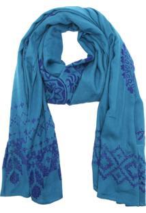 Lenço Desigual Wool Azul
