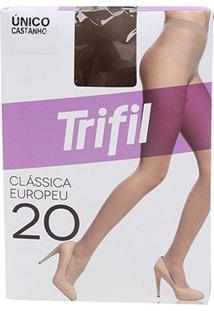 Meia Calça Trifil Fio 20 Europeu Feminina - Feminino-Caramelo