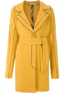 Martha Medeiros Trench Coat 'Max Pespontos' Curto - Amarelo