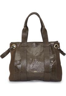 Bolsa Feminina Versátil Duo Leather - Marrom