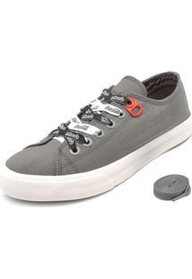 Tênis Coca Cola Shoes Cadarço Cinza