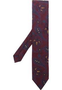 Etro Gravata Bordada Paisley - Vermelho