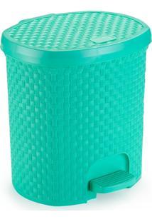 Lixeira Para Cozinha De Plástico 6 Litros Com Pedal Verde