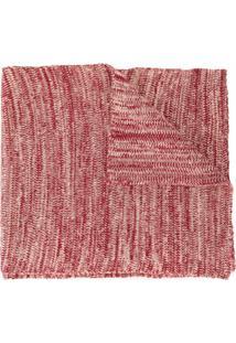 0711 Cachecol De Tricô - Vermelho