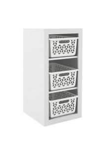 Armário Organizador Og2200 Branco/Branco - Tecno Mobili