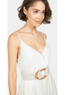 Vestido Com Alças Mídi Bordado Branco Off White - Lez A Lez