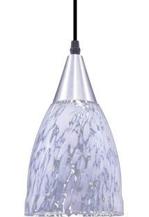Pendente Oval Para 1 Lâmpada Vicenza Liso Transparente E Leitoso E27 Taschibra Transparente