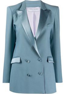 Hebe Studio Blazer Com Abotoamento Duplo E Ombros Estruturados - Azul
