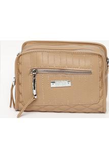 Bolsa Com Compartimentos- Nude- 16X23X11Cmsanta Lolla