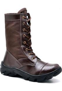 Bota Top Franca Shoes Segurança - Masculino-Café