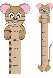 Adesivo Régua De Crescimento Ratinho Com Patas