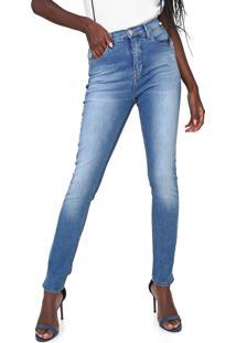 Calça Jeans Calvin Klein Skinny Estonada Azul