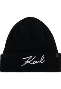 Karl Lagerfeld Gorro Signature - Preto