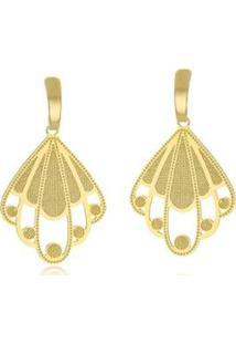Brinco Le Diamond Chapa - Feminino-Dourado