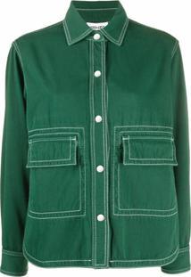 Kenzo Jaqueta Com Costura Contrastante - Verde