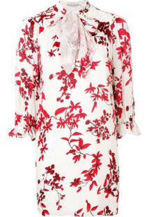 Alice+Olivia Floral Shift Dress - Branco