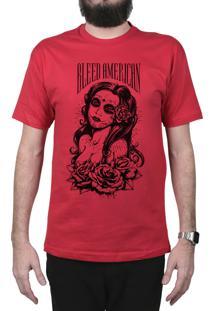 Camiseta Manga Curta Bleed American Timeless Vermelho