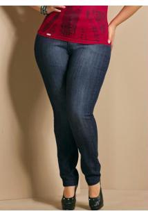 Calça Jeans Skinny Plus Size Azul