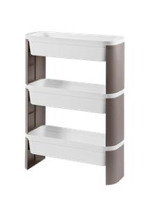 Organizador Slim 3 Andares Loft 44,83 X 17,34 X 67,85 Cm Concreto Coza