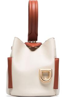 Danse Lente White Josh Leather Shoulder Bag - Branco