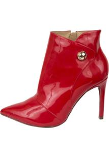 Ankle Boot Lança Perfume 1688411 Vermelho