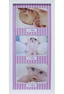 Painel De Fotos Para Parede Baby Love I Color 20X42 3 Fotos 10X15 Kapos