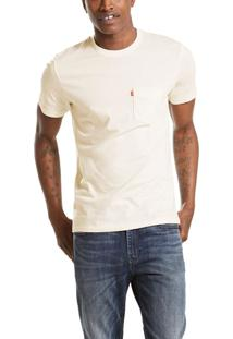 Camiseta Levis Masculina Sunset Pocket Branca Branco