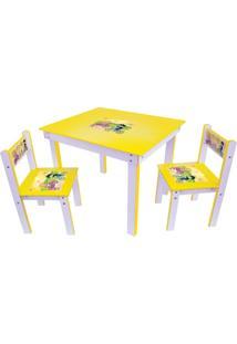 Conjunto Mesa Com 2 Cadeiras Junges Amarela