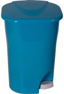 Lixeira Ecológica Com Pedal Lp2 25L Astra Azul