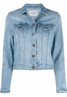 Dondup Jaqueta Jeans Cropped - Azul