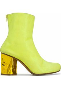 Maison Margiela Ankle Boot De Couro - Amarelo