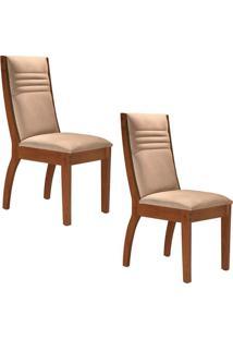 Conjunto Com 2 Cadeiras Excelence Chocolate E Pena