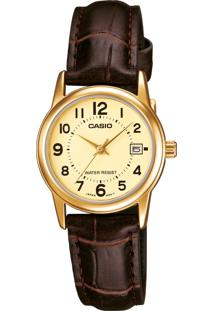 06491d6b251 Relógio Digital Casio Marrom feminino