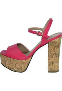 Sandália Lelive Calçados Meia Pata Pink