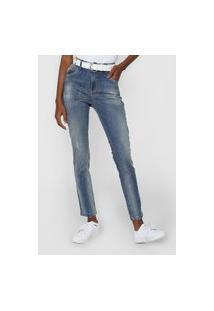 Calça Jeans Cantão Skinny Comfort Estonada Azul