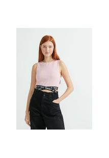 Blusa Cropped Com Faixas Personalizadas Em X Na Barra