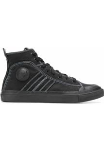 Diesel Hi-Top Canvas Sneakers - Preto