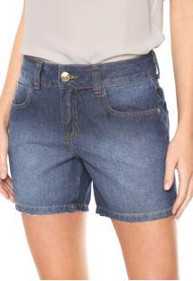Bermuda Jeans Colcci Reta Daria Azul