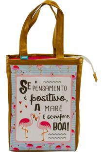 Bolsa Sacola Média - Coleção Flamingo - Mood