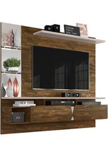 Painel Para Tv Com Bancada Suspensa 55 Pol. Intense Canela/Off White -