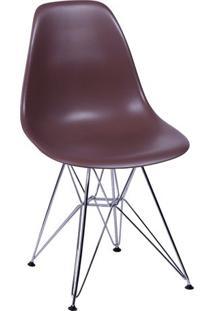 Cadeira Eames Dkr- Café & Prateada- 80,5X46X42Cmor Design