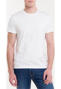 Camiseta Básica Liquid Bordado Ck - Branco - P